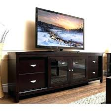 tv stands with glass doors contemporary espresso wood inch entertainment console stand with glass doors shelves