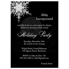 jpg middot office christmas. Corporate Holiday Party Invitation With Large Offset Snowflake On Bold Black Background. Jpg Middot Office Christmas