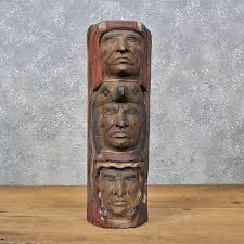 wooden indian totem carving statue 11986 for the taxidermy