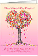 happy valentine s day daughter.  Day Happy Valentineu0027s Day Daughter Cute Pink Heart Tree Illustration Card With Valentine S Day Daughter A