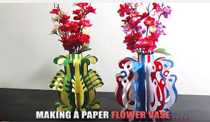 News Paper Flower Vase How To Make A Paper Flower Vase Very Easy And Simple Steps