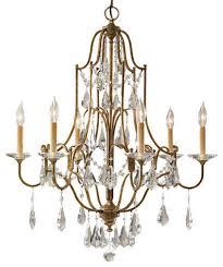 valentina 6 light single tier chandelier oxidized bronze