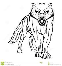 эскиз вектора волка иллюстрация вектора иллюстрации насчитывающей