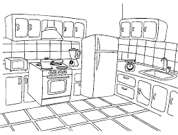 In Huis Kleurplaten Keuken