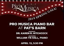 Pro Musica Piano Bar Troy Savings Bank Music Hall Troy Ny