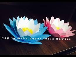 How To Make A Lotus Flower Out Of Paper How To Make Paper Lotus Flowers
