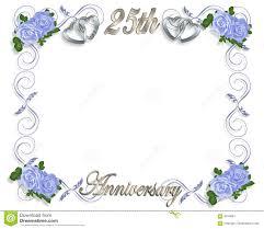 25th anniversary template stock ilration ilration of invitation 4314681