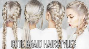 Plaits Hairstyle 3 cute & easy braid hairstyles youtube 4821 by stevesalt.us
