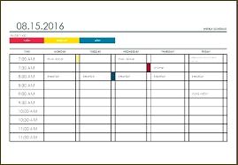 College Semester Schedule Template Automotoread Info