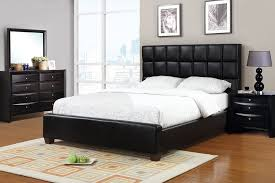 Queen Size Claiborne Black Leather Bed Frame