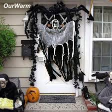 Haunted House Props <b>Halloween Hanging Ghost Skeleton Skull</b> ...