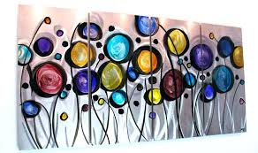 large colorful wall art metal for modern home a bathroom 800 473