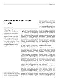 pdf economics of solid waste in india