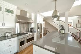white cabinets grey countertop