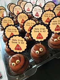 Holy Crap Youre Old Poop Emoji Cupcakes 30th 40th 50th 60th 70th