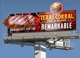 Restaurant Billboard Design For Texas Corral By Robert R