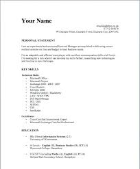 format for simple resumes