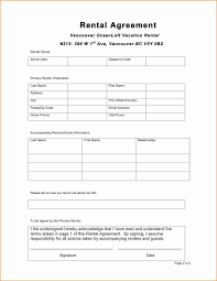 Generic Rental Agreement 24 Simple One Page Lease Agreement Printable Receipt 9