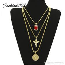 2018 men s hip hop jewelry set iced out square ruby crystal with bling rhinestone angel pendant necklace set 20 24 30 rope chain from fashion0102