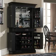 funiture stand alone bar cabinet made of wood combined with grey