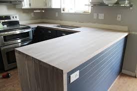 Creative Diy Countertops Diy Wide Plank Butcher Block Countertops Diy Wood Bar Counter