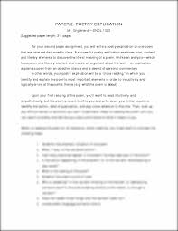 explication essay example examples of a literary essay examples of  explication essay essay 2 poetry explication