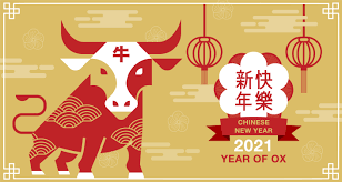2021 is the year of the goat, and goats and ox clash in the zodiac. Gold Chinese New Year 2021 Banner With Red Ox Download Free Vectors Clipart Graphics Vector Art