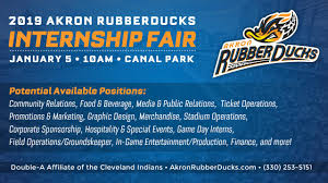 Akron Aeros Seating Chart Rubberducks To Host 2019 Internship Fair On Jan 5 Akron
