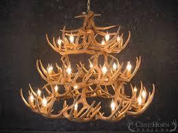 whitetail deer 42 antler chandelier