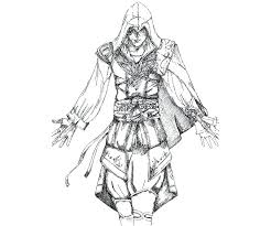 Assassins Creed Coloring Pages Coloring Page Assassins Creed Video