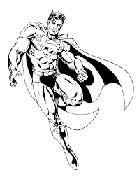 For an easier drawing, simply color these sections red, without the shadows. Superman 83620 Superheroes Printable Coloring Pages