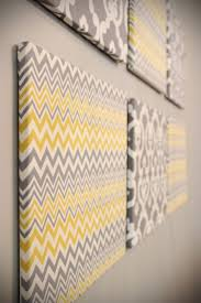 diy yellow and gray wall decor why have i never thought of this blank canvases