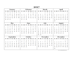 Free Printable Yearly Calendar 2017 Ender Realtypark Co