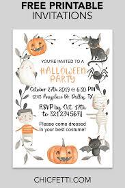 002 Template Ideas Free Printable Halloween Party Impressive