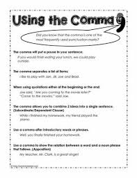 Comma Rules How To Use The Comma Worksheets