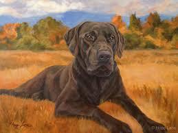 bear custom pet portrait of a chocolate labrador retriever by hope lane