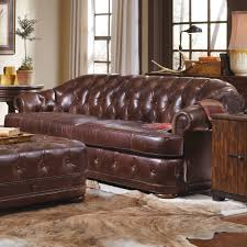 home and furniture chesterfield. Italian Brown Leather Tufted Sofa With Large Square Ottoman For Home Furniture Idea Reclining Couch Chesterfield Grey Red Couches Sectional Elegant Ideas And
