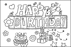 Small Picture Birthday Color Page Beautiful Birthday Greetings Coloring Pages