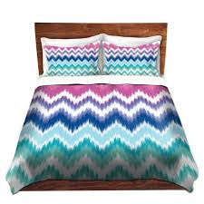 cool funky bed pillow shams standard and king organic saturation ombre ikat chevron bedding duvet covers