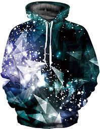Amazon.com: Hoodie Crystals <b>Galaxy</b> Blue Green FLYCHEN ...