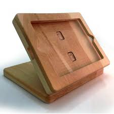 wooden ipad stand featured