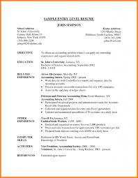 5 Entry Level Accounting Resume Samples Cashier Resumes
