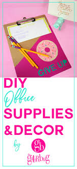 clipboard office paper holder clip. DIY Office Decor \u0026 Supplies. Donut Give Up Clipboard, Hippo Paper Holder, And Clipboard Holder Clip
