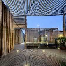 terrace lighting. Terrace Lighting. Terrace, Floor Lighting, Floating Bamboo Courtyard Teahouse In Shiqiao, China Lighting N