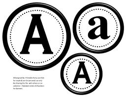 Letter For Banner Printable Alphabet Letters A Z Printable Banner Letters Personalize