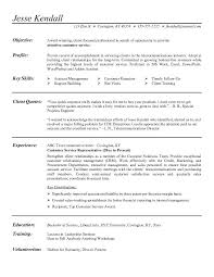 Customer Service Representative Resume Job Description Jesse Kendall
