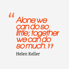 Working Together Quotes Helen Keller Quotes