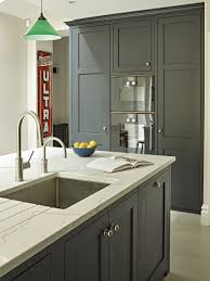 white marble countertops stainless steel undermounted sink single handle faucet megazine grey stained island kitchen cabinets knobs built in microwave oven