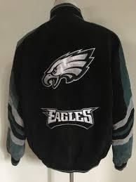 philadelphia eagles super bowl champs nfl suede leather jacket men s large