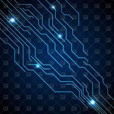 Dark Blue Circuit Board Technology Background Vector Illustration Of